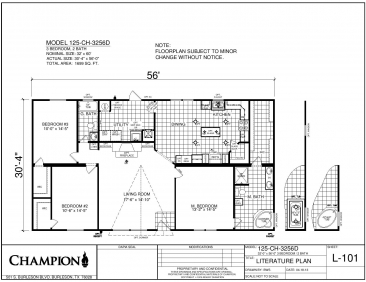 CH3256D Floor Plan