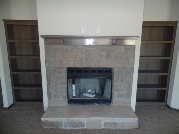 CH3256D Fireplace & Book Shelves
